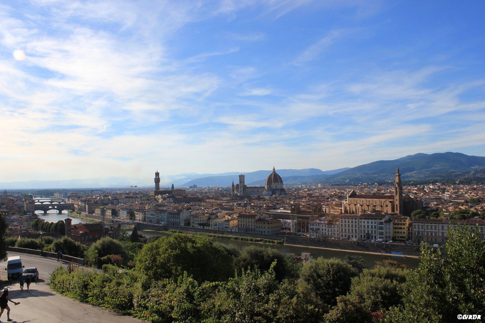 Vue sur Florence de la Place Michelangelo