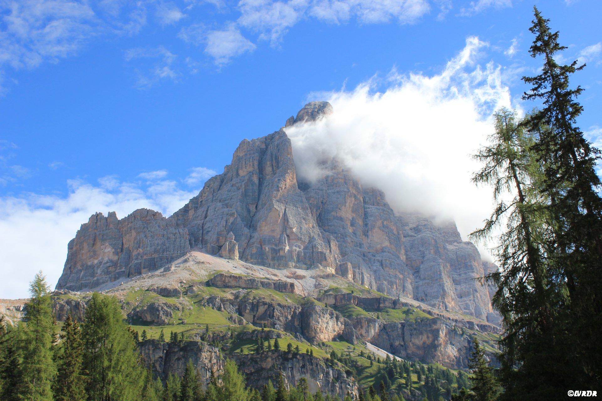 Vue sur les Dolomites